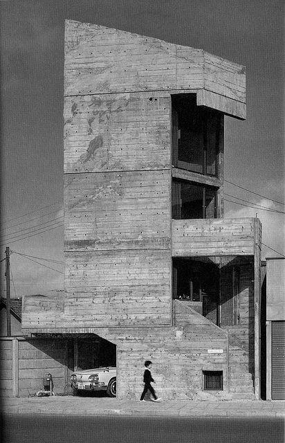Tower House, Takamitsu Azuma, 1967  Old Photo.  http://vimeo.com/16505702
