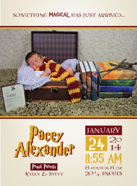 HARRY POTTER ANNOUNCEMENT // New Baby Birth Announcement // Hogwarts // Newest Member Of Gryffindor