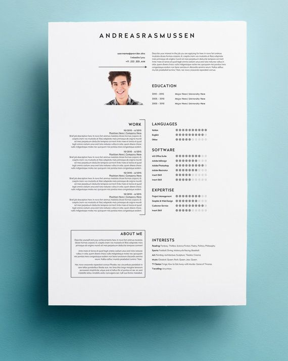 1000+ ide tentang Cv Template Word di Pinterest Resumé, Riwayat - resume software mac