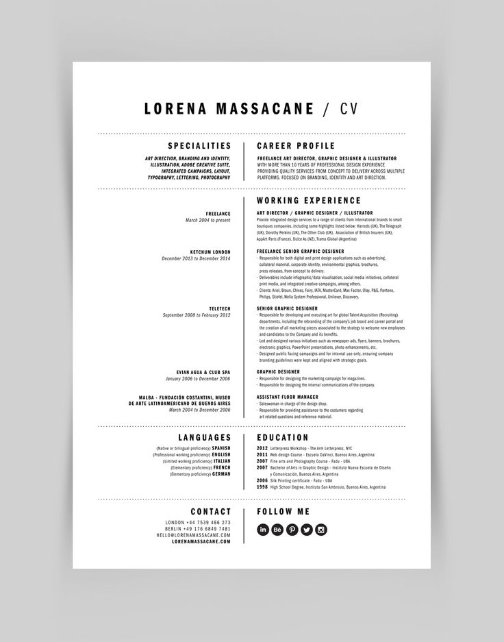 55 best curriculum vitae images on pinterest | curriculum, resume