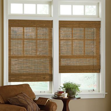 Jcp Home Custom Bamboo Woven Wood Roman Shade Jcpenney