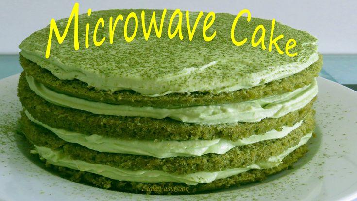cách làm bánh KEM TRÀ XANH bằng LÒ VI SÓNG hướng dẫn công thức làm bánh ...