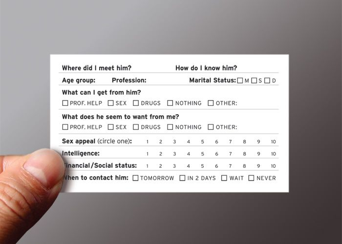 Another Ji Lee business card:  funny survey_back