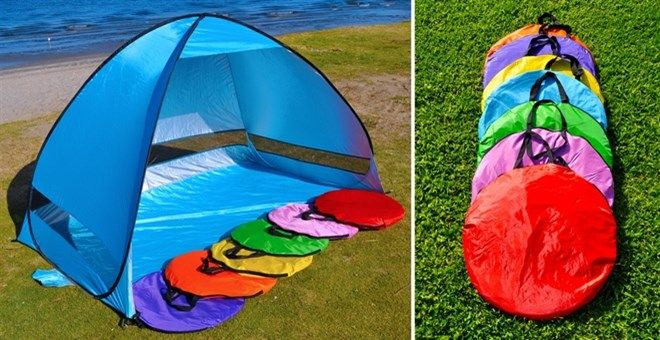 Pop up shade tent! These are so great for the pool, the beach or even in your yard! The perfect place to find some shade when those little ones get hot! Only $34.99!