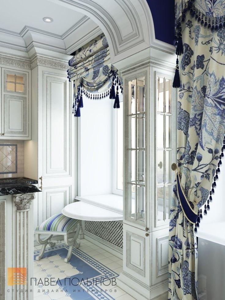 Фото: Интерьер кухни-столовой - Интерьер шестикомнатной квартиры в классическом стиле, Малый пр. П.С., 160 кв.м.
