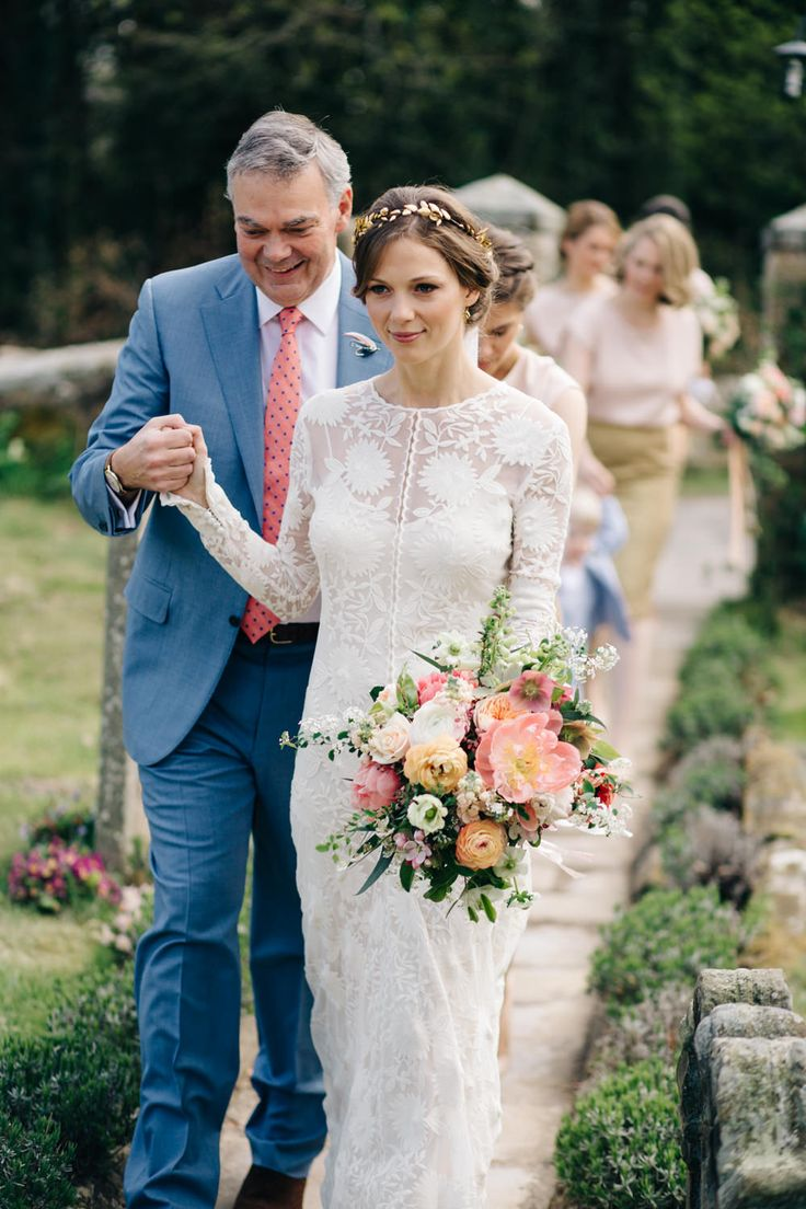 Image by M&J Photography - Chloe by Rue de Seine For An Elegant Wedding At Eshott Hall Northumberland With Groom In Pale Pink Suit By Paul Smith And With Images by M&J Photos with Videography by Clark and Palmer Wedding Films