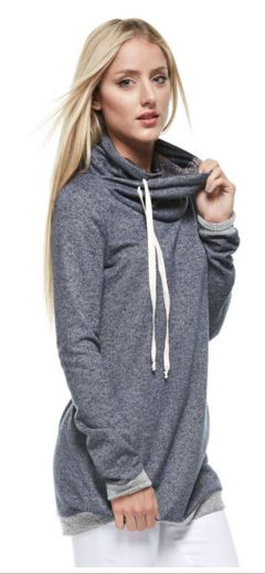 Brooklyn Cowl Neck Hoodie | SexyModest Boutique