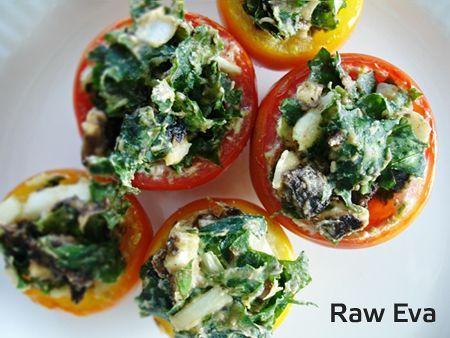 Plněná rajčata podle Raw Evy (raw food) :: Syrová strava
