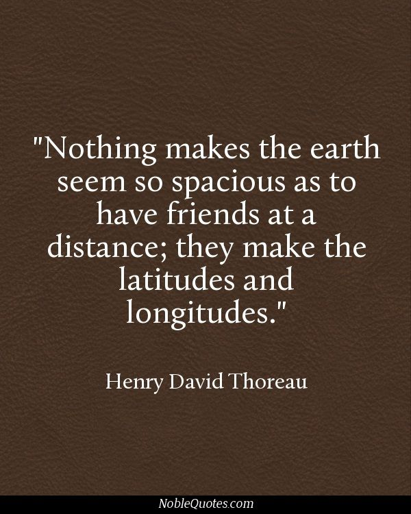 Henry david thoreau essay on friendship