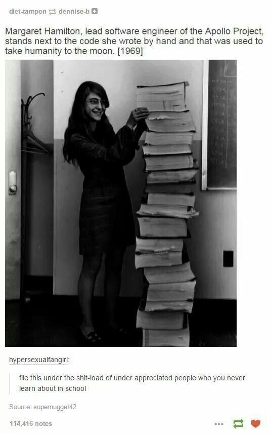 Margaret Hamilton, coder for moonshot
