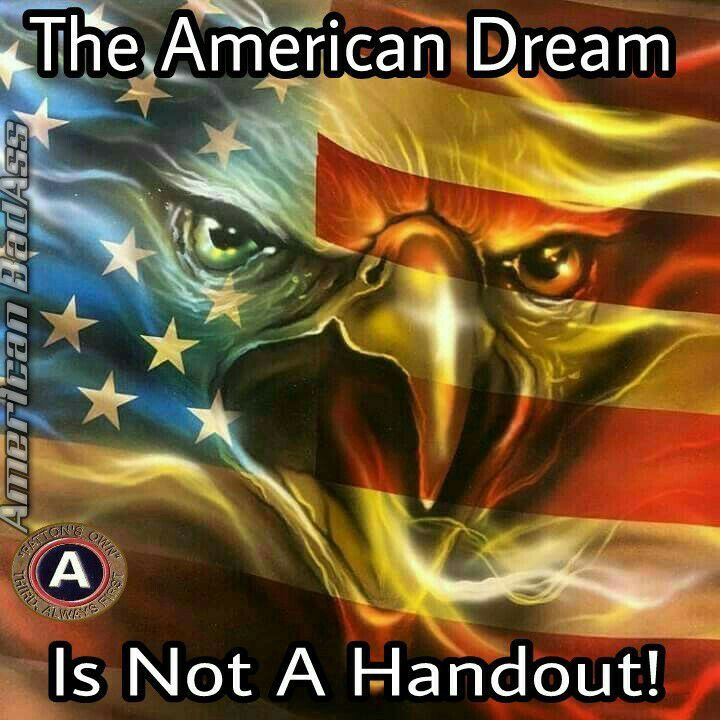 The USA is a sovereign constitutional republic and not a hand out country