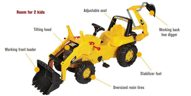 Kettler CAT Backhoe Pedal Tractor - A boys dream!