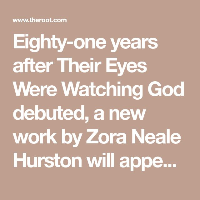 a comparison of the types of freedom in their eyes were watching god by zora neale hurston and the s - zora neale hurston's their eyes were watching god in their eyes were watching god, zora neale hurston portrays the religion of black people as a form of identity each individual in the black society hurston has created worships a different god.