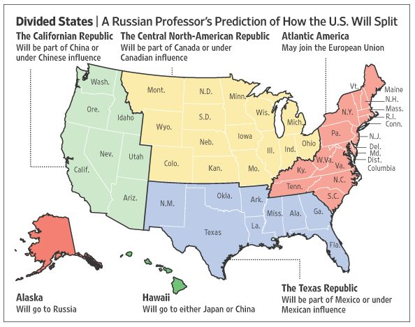 As If Things Werent Bad Enough Russian Professor Predicts End Of - Map of us west coast states