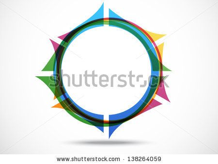 Business logo Abstract Navigation icon. Corporate, Media, Technology