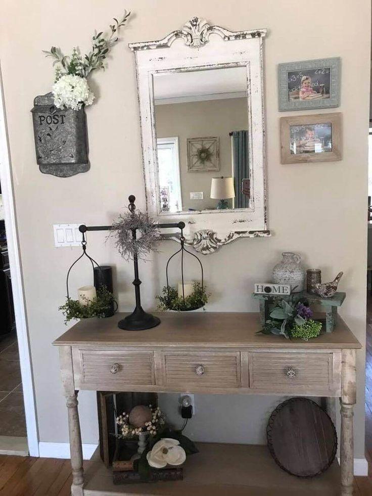 25 idées de miroir dans une jolie ferme pour ajouter une touche de beauté rustique à votre maison