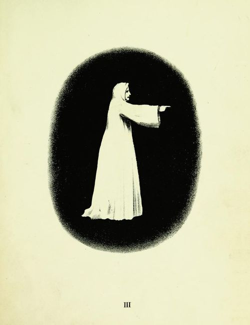 Pointing specter. Spectropia, or Surprising Spectral Illusions, Showing Ghosts Everywhere. 1865.