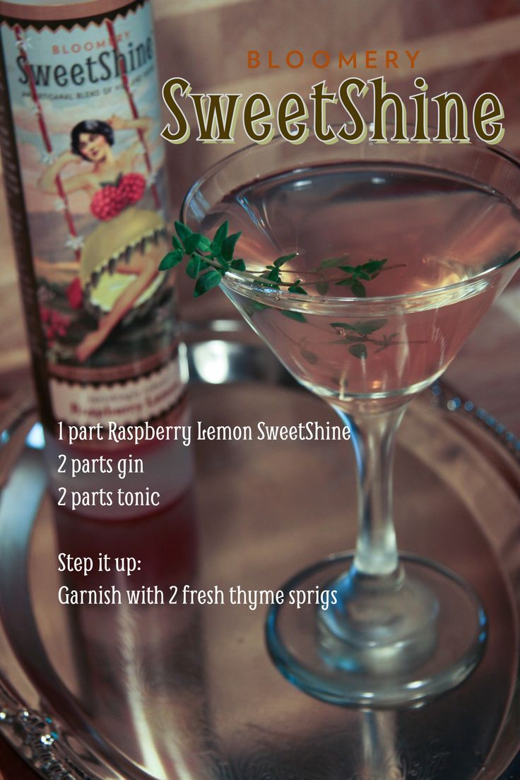 SweetShine, cocktail, moonshine, mixology, Raspberry Limoncello, gin, recipe, gluten free  www.bloomerysweetshine.com