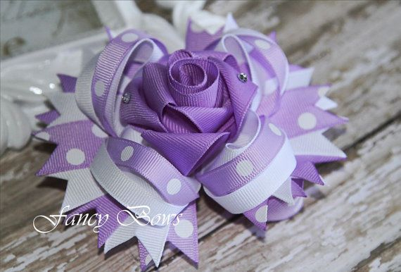 Lavender Rose Boutique Stacked Bow Special Occasion by fancybows