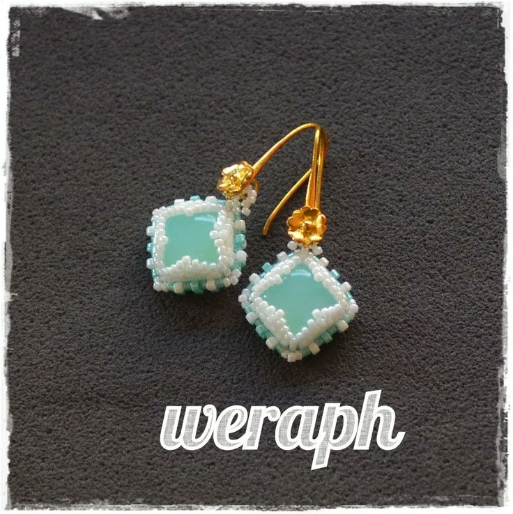 Square agate earrings