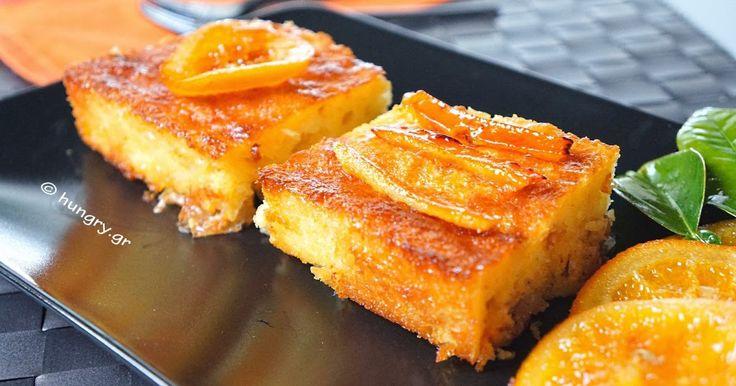 Portokalopita - Greek Orange Filo Cake, Πορτοκαλόπιτα με Ψημένο Φύλλο, Συνταγές για Σιροπιαστή Πορτοκαλόπιτα