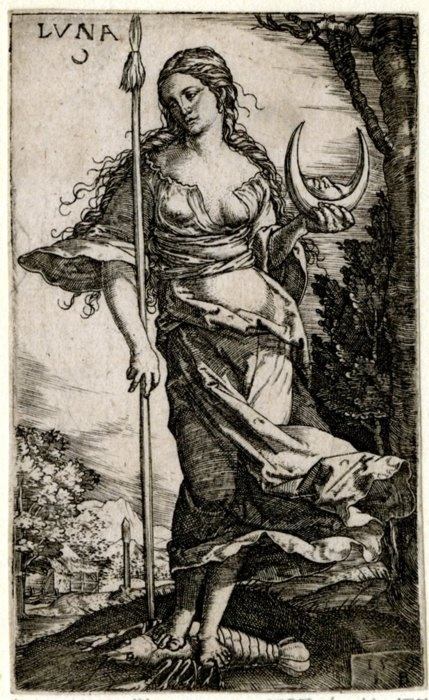 Luna  Print made by Monogrammist IB1528  British Museum