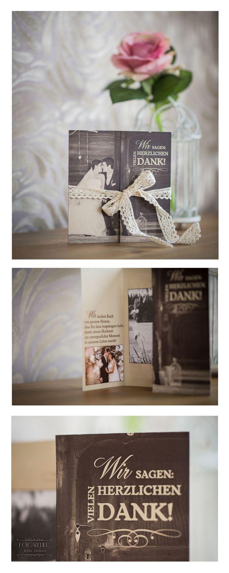 Wedding Thank you Card Dankeskarte Hochzeit