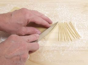 Cutting and Shaping Pasta by Hand - this site has tips for all kinds of fresh pasta fatta a mano! :)