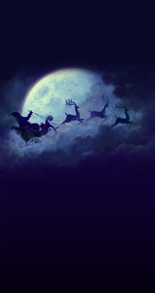 Signs of Christmas-Santa and reindeer