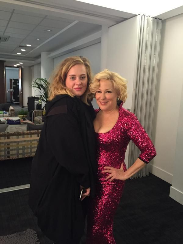 Adele and Bette Midler.