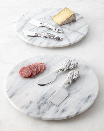 Beautiful cheese set! Arthur Court Three-Piece Marble Cheese Set - Neiman Marcus