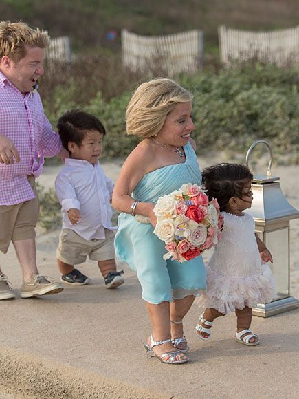 Inside The Little Couple's Emotional Vow Renewal Ceremony   AISLE OF SMILES   Zoey and Will accompany their parents for the walk to the officiant. Klein and Arnold adopted Zoey from India in 2013 and Will from China earlier that year; both children have skeletal dysplasia, just like their parents.