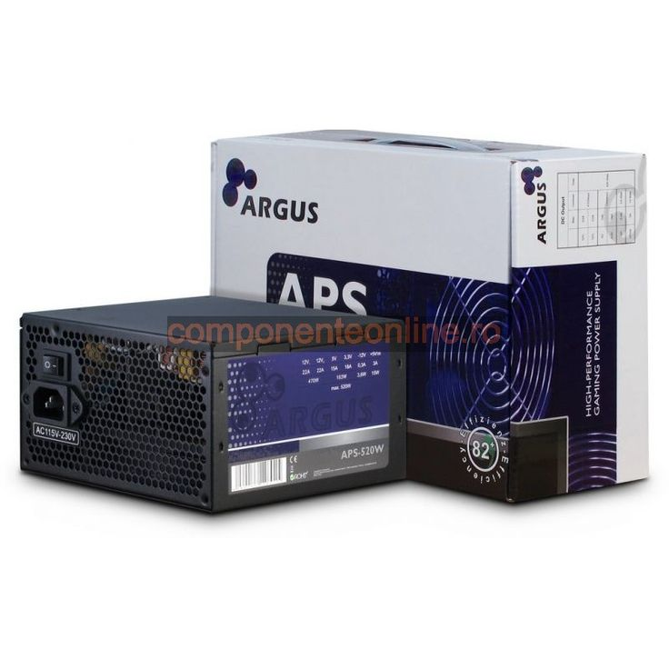 Sursa PC 520W, ATX, Argus, APS-520W, Inter-Tech - 328945