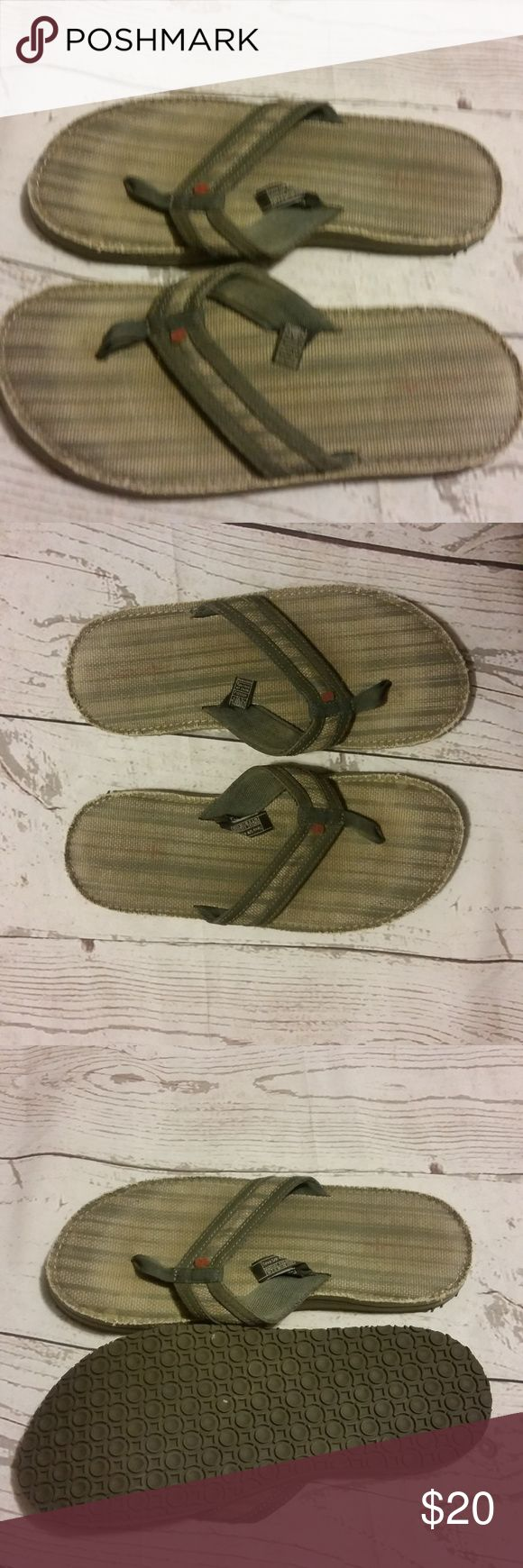Teva Mens Flip Flops Sandals Gray Size 10 Gently Used Teva Mens Flip Flops Gray US Size 10 EU Size 43  Trusted Seller. Fast shipping.  Please check out my other listings. Items being added daily. Thanks for stopping in!  Posh By Design Teva Shoes Sandals & Flip-Flops
