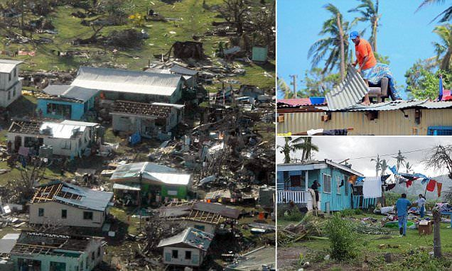 Aerial photos show horrific devastation of Cyclone Winston in Fiji