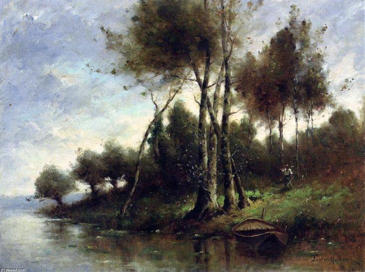 Going Fishing de Paul Désiré Trouillebert (1829-1900, France)
