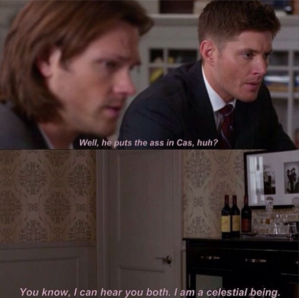 "Supernatural. ""You know, I can hear you both. I am a celestial being."""