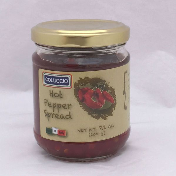 Spice up your favorite foods with Coluccio's hot pepper spread - produced with only red pepper, sugar, and pectin.  Buy Online