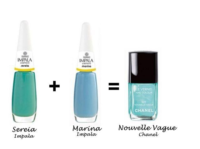 Misturinha para Chanel Sereia Impala + Marina Impala = Nouvelle Vogue Chanel