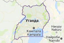 Уганда: карта