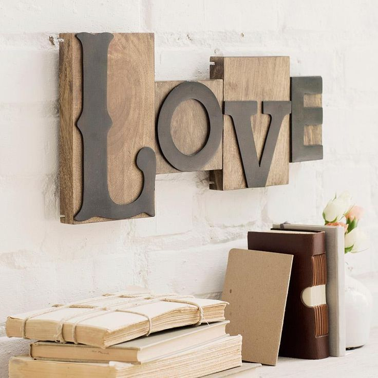 Love - Letterpress Block Set