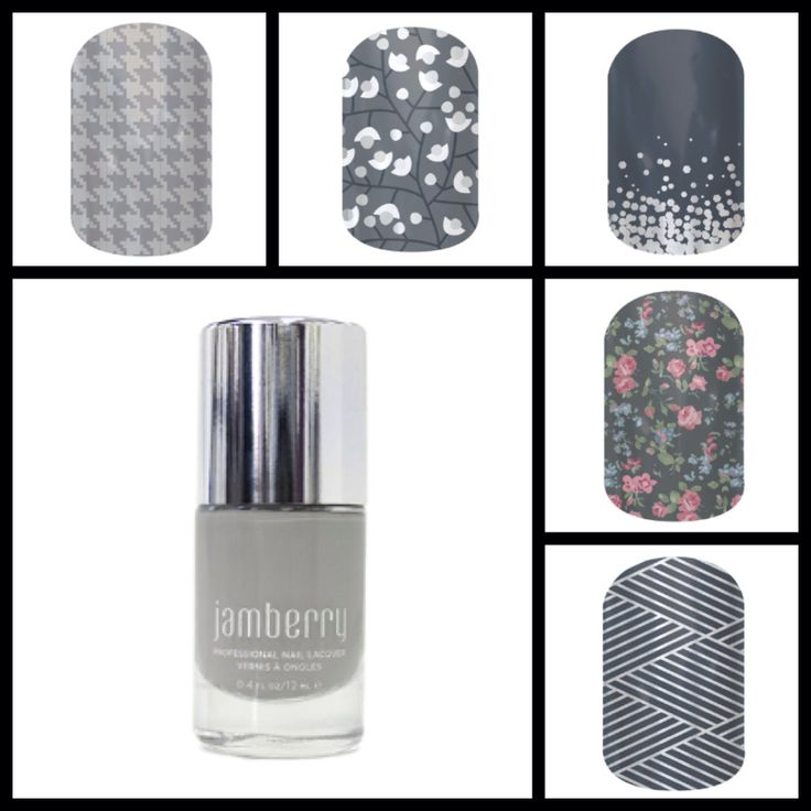 Grey / Silver Jamberry Nails and lacquer combo. Order yours at wrappedtoperfection.jamberrynails.net