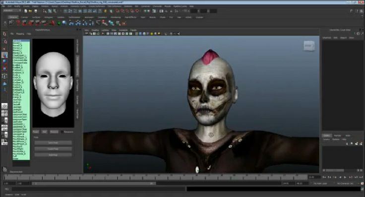 Character Tracked using Xbox 360 Connect Real time inside Maya