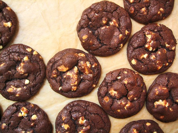White Chocolate Chunk Chocolate Cookies | Cookie Monster | Pinterest
