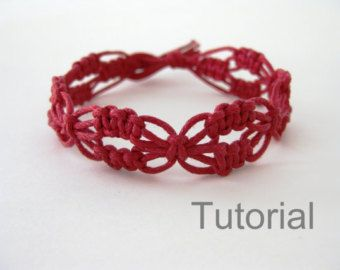 Bracelet pattern macrame tutorial pdf green от Knotonlyknots