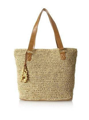 50% OFF Straw Studios Women's Solid Tote, Natural
