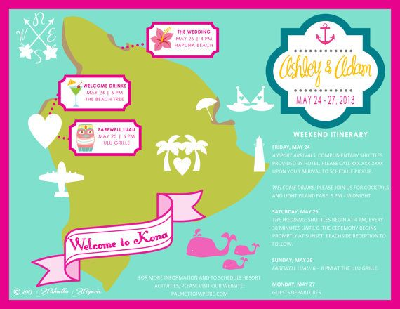 Custom Wedding Map Kona HAWAII Wedding Map/Save the date, Made to Order by PalmettoPaperie, $175.00