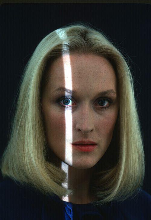 HENRY WOLF, MERYL STREEP 1979: kodachrome film portrait for new york magazine.