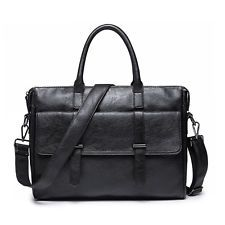 Men's Vintage Leather Handbag Messenger Bags Shoulder Laptop Bag Briefcase