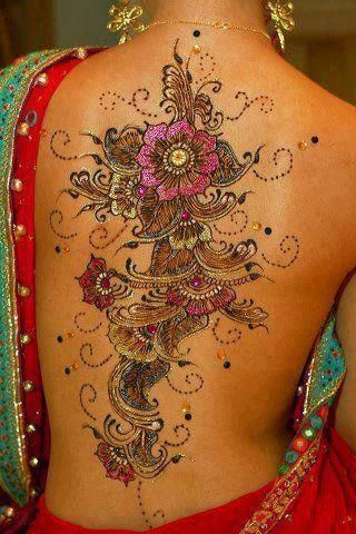 Love to do this! Esp since its henna, for a weekend! Fusion henna designs